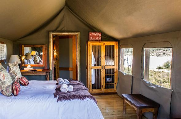 Buffelsdrift Game Lodge offer comfortable accommodation.