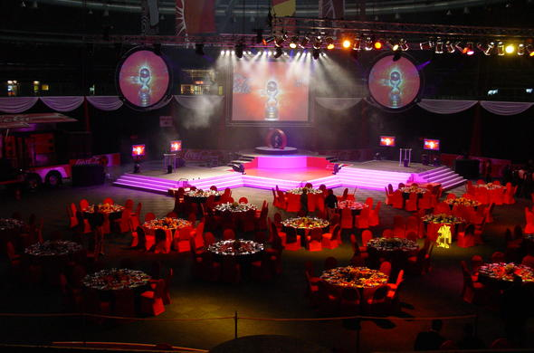 Banquet in the Coca Cola Dome.