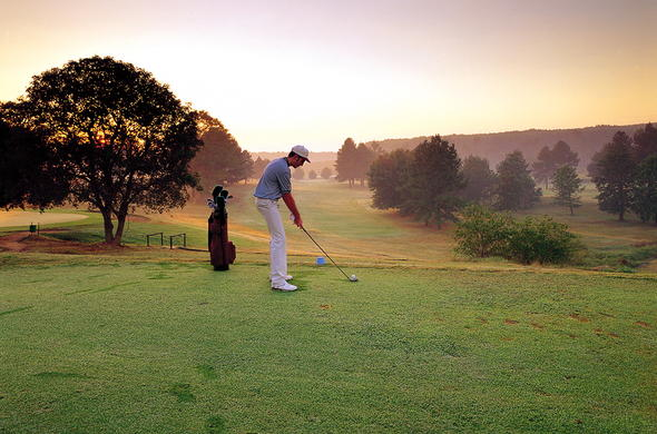 Enjoy a round of golf at Greenway Woods Resort.