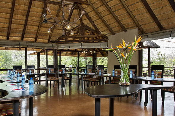 Conference venue interior at Lukimbi Safari Lodge.