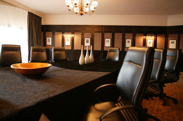 Meeting room at the Beverly Hills Hotel.