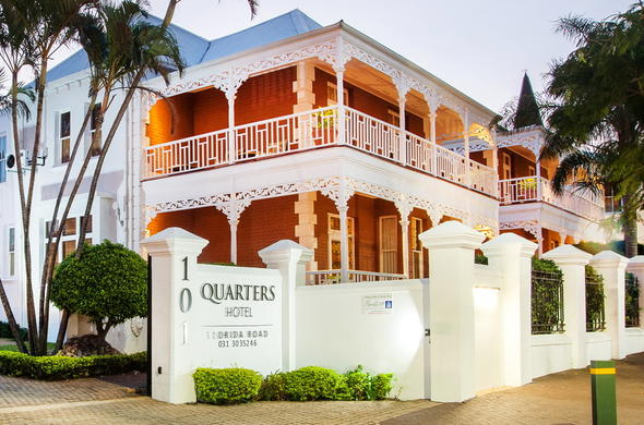 Exterior view of Quarters Hotel Florida Road.